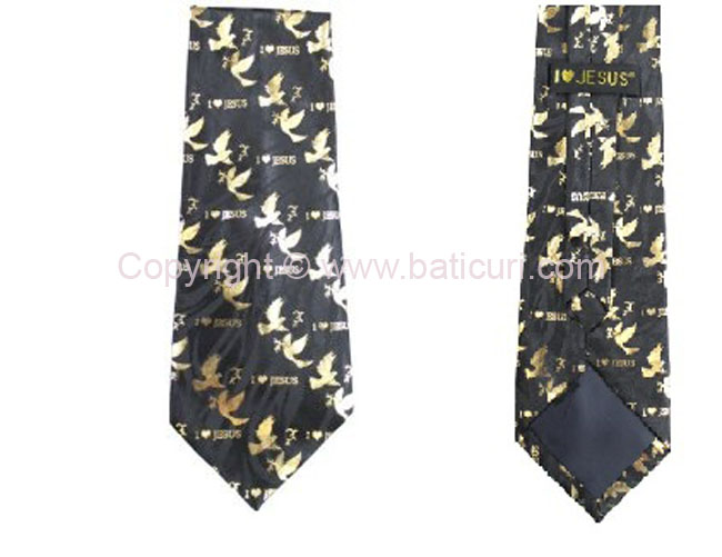 I love Jesus Tie-Black/gold